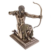 Kneeling Indian with Drawn Bow Statue American Frontier Collectible West... - $38.60