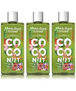 Bath & Body Works Waikiki Beach Coconut Shower Gel 8 fl oz Set of Three ... - $25.64