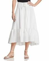 T Tahari Irena Ruffled Midi Skirt (White, 12) - $57.34