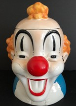 Vintage GIBSON GREETING CARDS INC Laughing Clown 9.5 inch Cookie Jar - $79.19