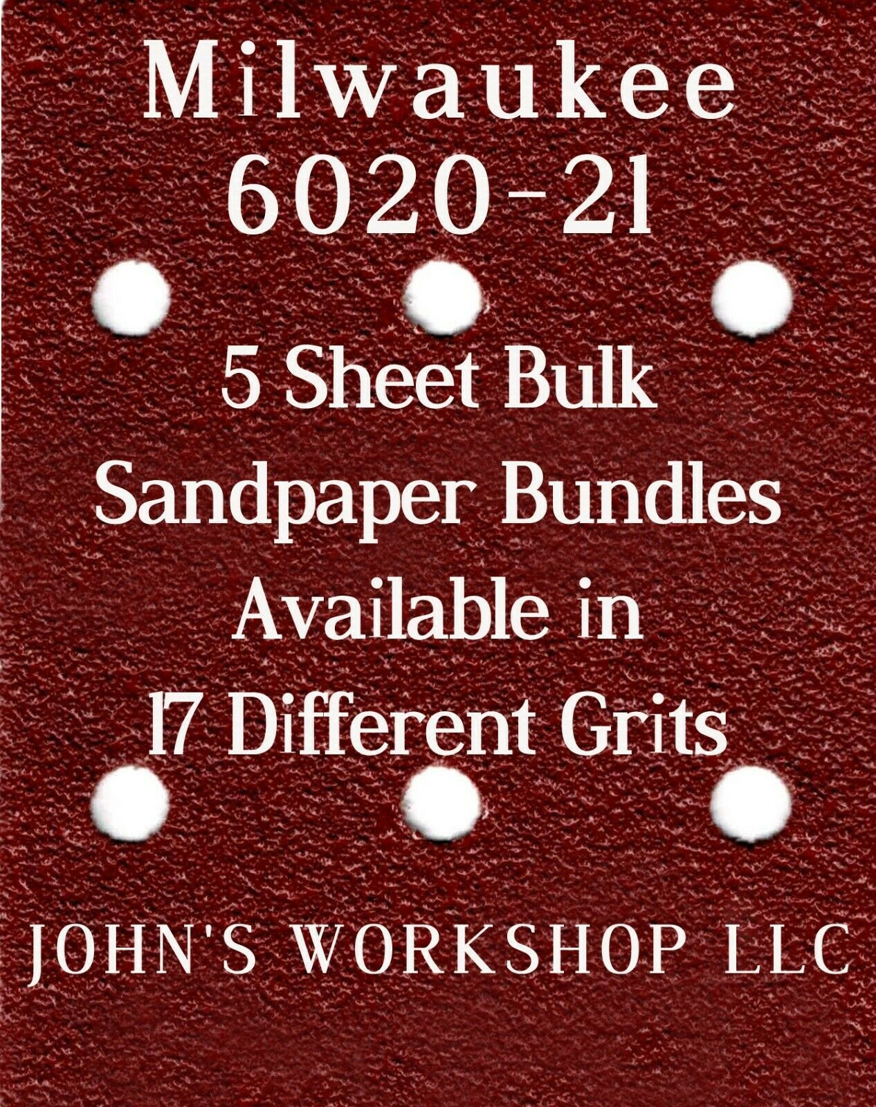 Primary image for Milwaukee 6020-21 - 1/4 Sheet - 17 Grits - No-Slip - 5 Sandpaper Bulk Bundles