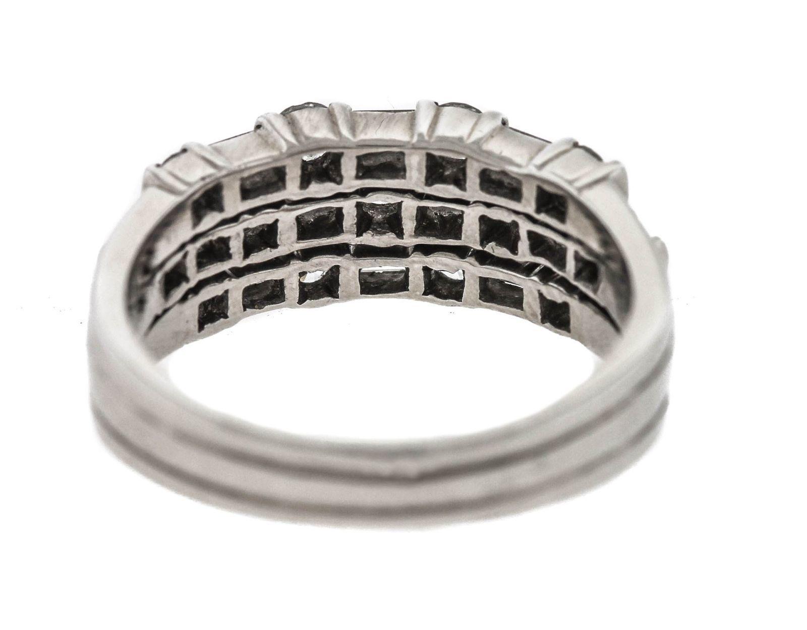 b71ca548d Ladies Genuine Tiffany & Co. 950 Platinum 3 Row 0.79ctw Diamond Engagement  Ring