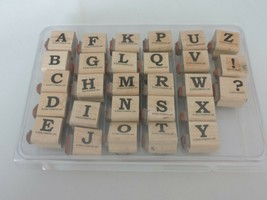 Stampin Up Uppercase Lowercase Bold Alphabet 2002 Mounted Stamp Set Double Sided - $15.30