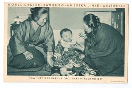 Hamburg Amerika World Cruise SS Resolute Steamship Kioto Japan Postcard ... - $9.95