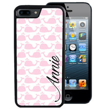 PERSONALIZED CASE FOR iPHONE XR XS MAX X 8 7 6 PLUS RUBBER COVER PINK WH... - $13.98