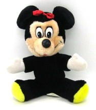 "Disney World Souvenir MINNIE MOUSE all Plush Doll Stuffed Toy 7"" tall 1980s - £3.38 GBP"
