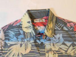 Billabong Boys Youth Short Sleeve Button Up Shirt Size S small Sundays Flor Chr image 3