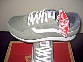 Vans Mens Runner Varsity Sport 81 Castor Grey True White Suede Canvas sh... - $54.43