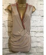 Bastyan Ladies Mocha Silk Chain Top Blouse UK 10 US 6 EU 42 - $62.54