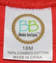 Blanks Boutique Boys Long Sleeve Red Tee Shirt 18 Months image 3