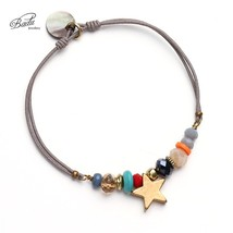 Badu Women Best Friend Bracelet Gold Star String Bracelets Lucky Charm E... - $19.06