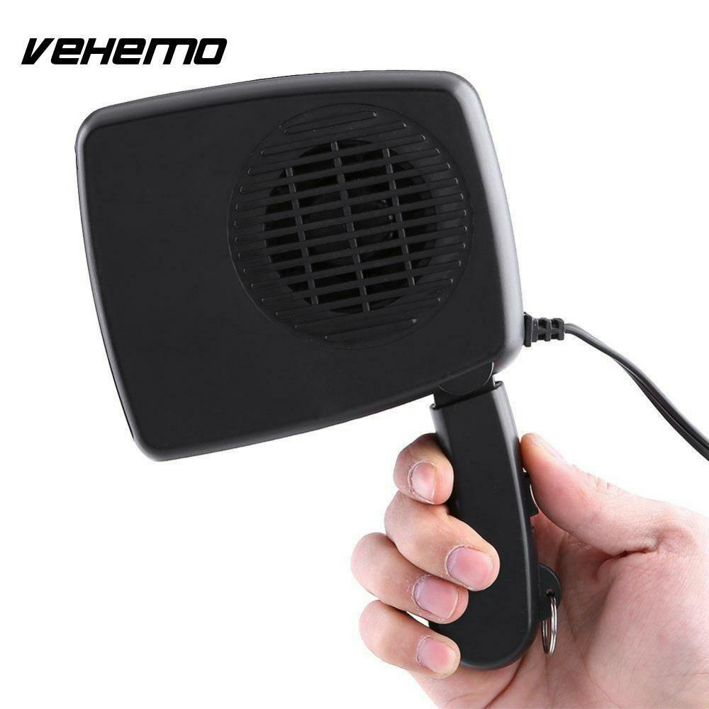 Car Heating Fan 12V with Swing out Handle Window Glass Defroster Electric Heater
