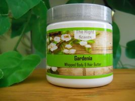 Whipped Body Butter Gardenia Scent Shea, Mango, & Cocoa Organic Fair Trade  - $16.99