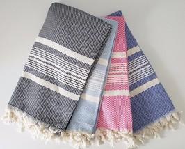 TURKISH PESHTEMAL TOWELS TURKISH TOWELS FOR BEACHES COTTON BATH TOWEL - YE- - $13.99