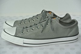 NEW Converse Chuck Taylor Mens Sz 11 Gray Textile Knit All Star Low Top Sneakers - $37.61