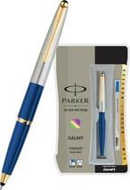 Parker Galaxy Stainless Steel Gold Trim Roller Ball Pen - $10.35