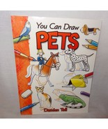 You Can Draw Pets Paperback Book 2005 Damien Toll Dog Cat Fish Turtle - $4.99