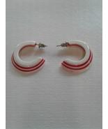 Red Candy Stripe Post Earrings - $20.00