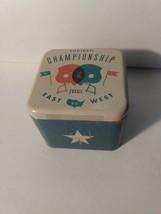 Fossil Empty Watch Metal Tin Box  Football Championship East VS West - $6.39