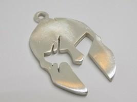 Fashion Men Women Spartan Helmet with Scratches 925 Sterling Silver Pendant - $67.32