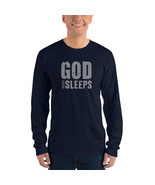 God Never Sleeps Long sleeve t-shirt American Apparel 2007 - $28.50 - $30.50