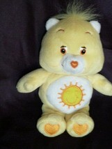 "Care Bears Small 7"" Plush Funshine Sunshine Bear 2004, Yellow, Sun TCFC - $14.84"
