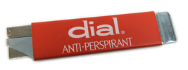 Vtg Dial Anti-Perspirant  Metal retractable Box Cutter Pacific Handy Cut... - $14.50