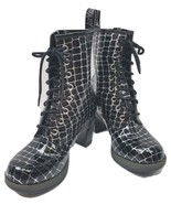 Dr. Martens Women's  Darcie Diva Dancer 8 Eye Heel Boot Black Croco US 7 - $145.20