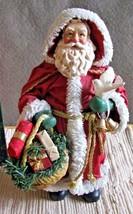 Santa Fabric Mache Possible Dreams Nick's Nook Peace to the world #4001 ... - $49.49