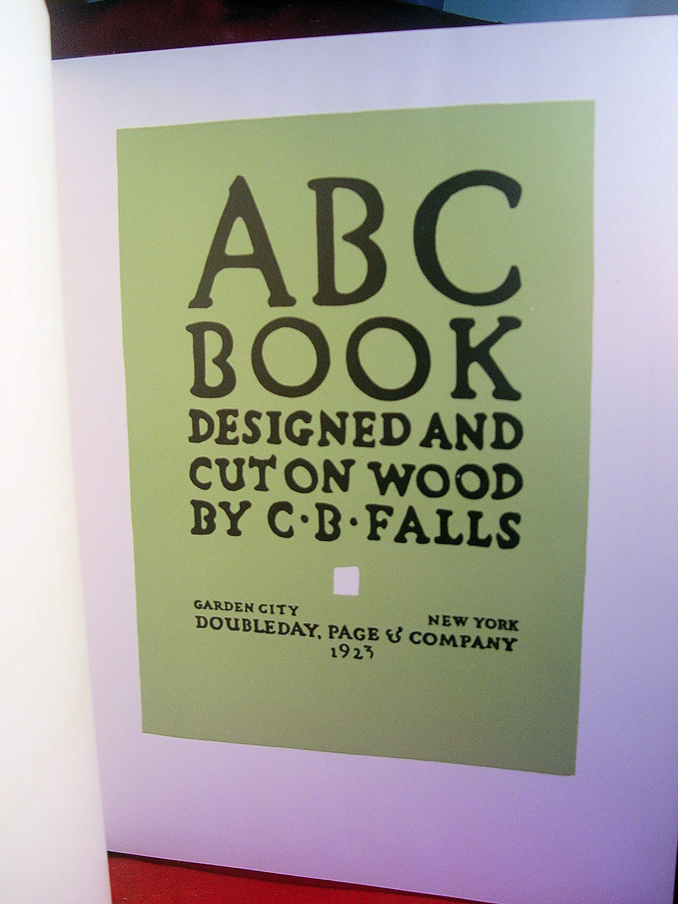 ABC Book by C. B. Falls 1923 first edition in original dust jacket.
