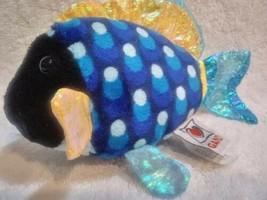 Webkinz Lil' Blue Trigger Fish Ganz Plush B20 - $17.81