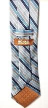 Michael KORS Mens BLUE Striped Necktie POWER Tie 100% SILK Classic - £18.90 GBP