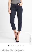 Gap Mid Rise Slim Crop Jean: 27 Regular - $23.53