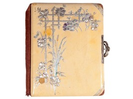 Antique Vintage Victorian Photo Album - Celluloid Cover and Back - $18.70