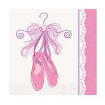 Pink Ballerina 16 Beverage Napkins Birthday Dance Recital - $3.47