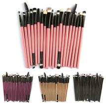 20PCS/Set Makeup Brush Set Tools Wood Handle Toiletry Kit Wool Cosmetic ... - $20.86