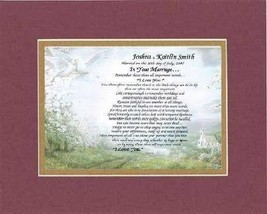 Personalized Touching and Heartfelt Poem for Wedding - In Your Marriage .Poem on - $22.72