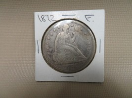 1872 SEATED SILVER DOLLAR - DECENT EXAMPLE - FREE SHIPPING!!! - $391.05