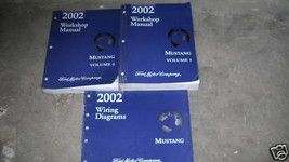 2002 Ford Mustang Gt Cobra Mach Service Shop Workshop Repair Manual Set ... - $108.85