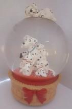 Disney Dalmations Snowglobe Musical Doggie In The Window - $44.54