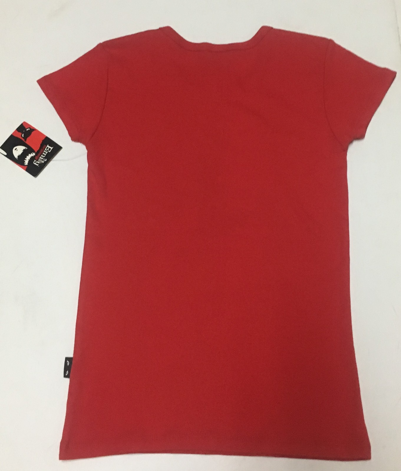 Emily The Strange Cat Kitty I LOVE YOU THIS MUCH T-Shirt Top Sz Juniors M Red