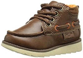 Little Boys Toddler Brown Oshkosh Dress Casual Lace up Boot Shoe Size 11... - $424,70 MXN