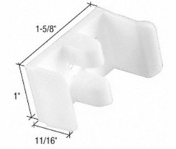 "1-5/8"" Wide Sliding Shower Door Jamb Guide (Pack of 2) - $8.90"