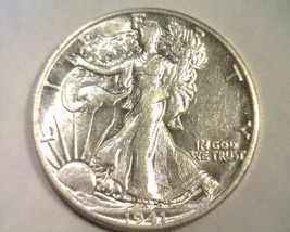 1941-S WALKING LIBERTY HALF CHOICE ABOUT UNCIRCULATED CH. AU. NICE ORIGI... - $38.00