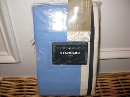 Tommy Hilfiger American Classics Standard Sham Blue Cream NIP - $36.67