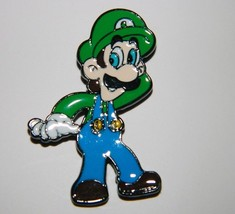 Super Mario Bros. Video Game Luigi Figure Metal Enamel Pin NEW UNUSED - $5.94