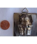 Vintage 1960's Miniature Santa Claus Metal Mold Single Chocolate Candy B... - $21.99