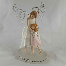 """Hallmark Mother and Daughter Down to Earth Angels 2008 figurine 6"""" tall - $16.62"""