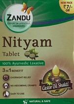 Nityam tablets bowel care overnight relief no abdominal cramps laxative 12 - $10.63