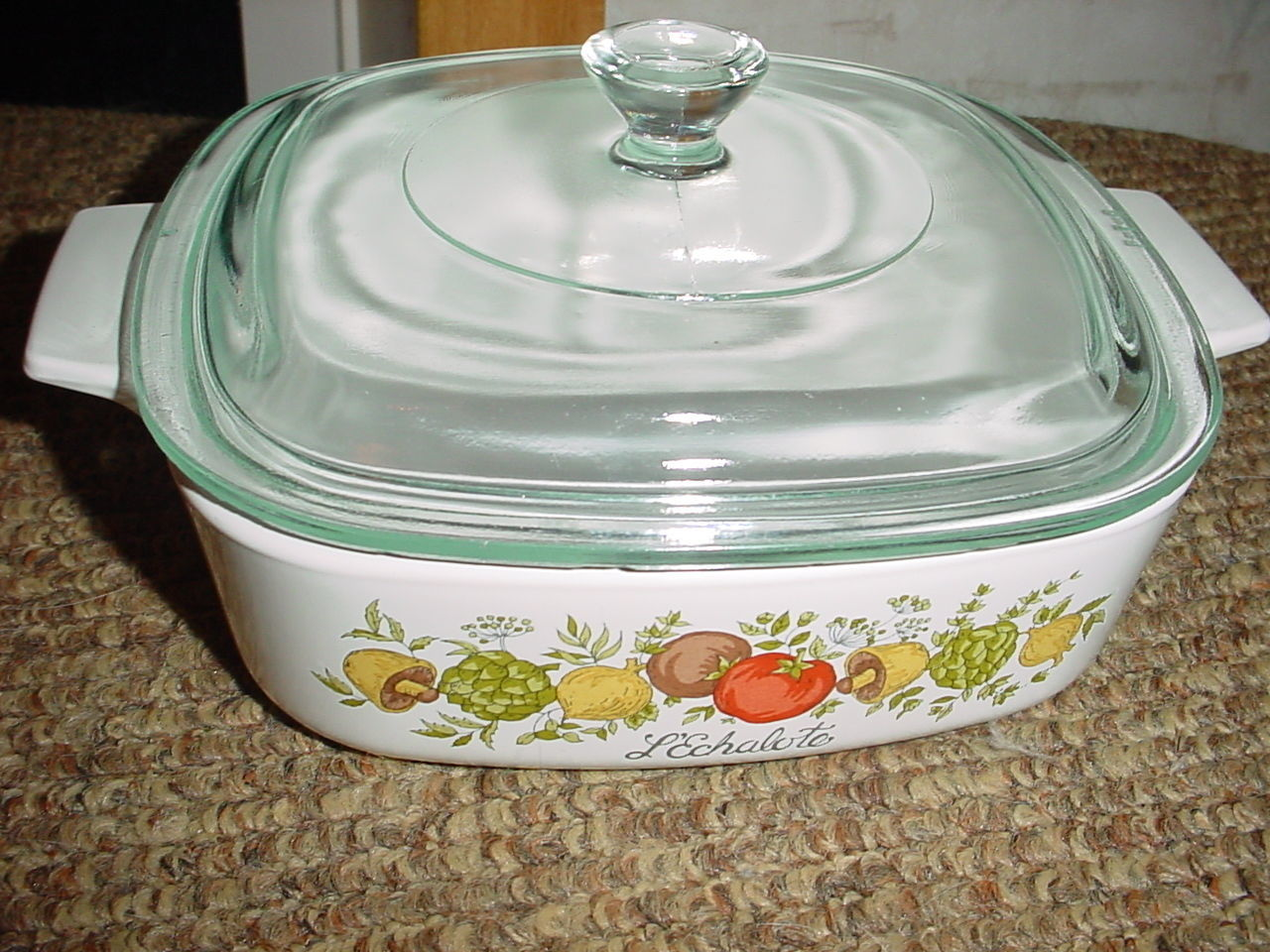 Primary image for CORNING WARE SPICE OF LIFE CASSEROLE DISH A-1-B 1 LITER 1 QUART SIZE + GLASS LID